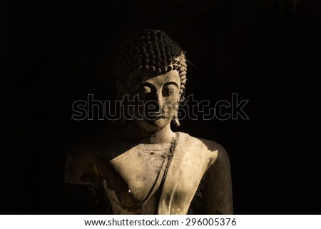 The Old Foundry the Buddha's head. - stock photo