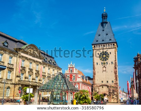 The Old Gate of Speyer - Germany, Rhineland-Palatinate - stock photo