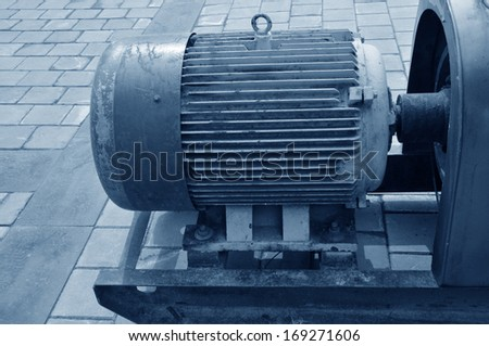 The old generators and generator parts  - stock photo