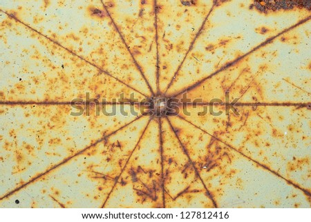 The old metal plate with oxide line texture background - stock photo