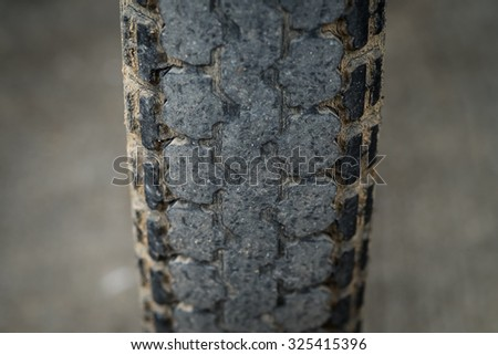 The old motorcycle tire
