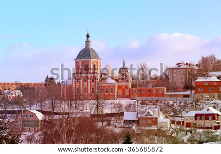 The old Orthodox Church in the city of Smolensk in Russia
