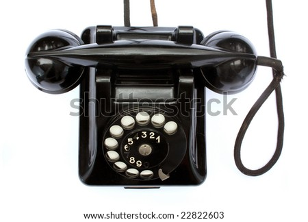 The old phone from top. - stock photo