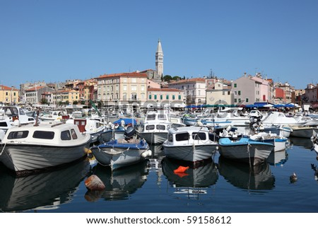 The old port of Rovinj, Croatia