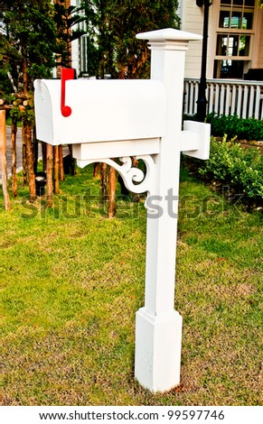 The Old postbox - stock photo