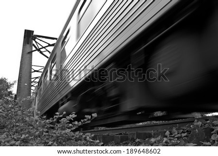 The old railroad from Bangkok to northern of Thailand - stock photo