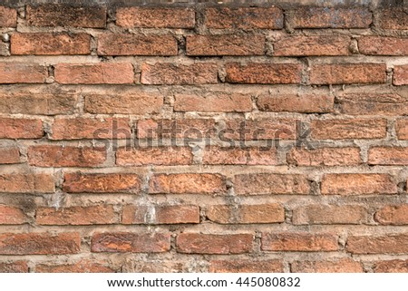 The old red brick walls. - stock photo
