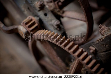 The old rusty mechanism - stock photo