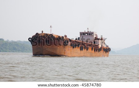 the old rusty tanker photo - stock photo