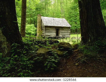 The Old Settlers House. - stock photo