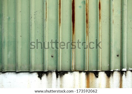 The old sheet steel wall - stock photo