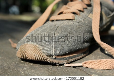 The old shoe. - stock photo