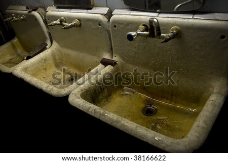 The old sink in the production