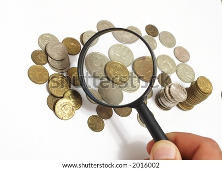 The old Soviet Union coins - stock photo