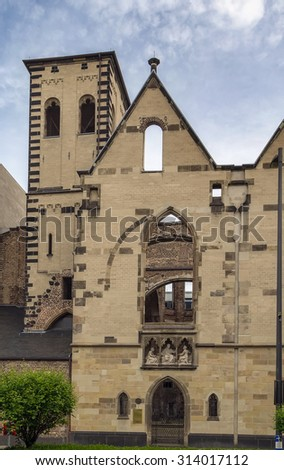 The Old St. Alban is one of the oldest parish churches in Cologne, Germany - stock photo