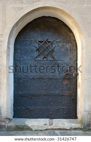 The old steel door