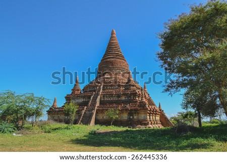 The old temple in Bagan, Myanmar, Burma - stock photo