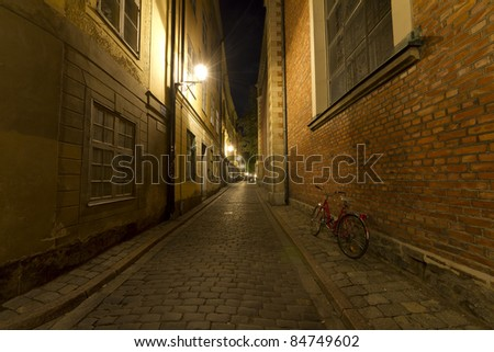 The Old Town in Stockholm, Sweden - stock photo