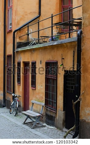 The Old Town in summer Stockholm, Sweden - stock photo