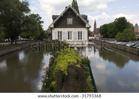 The old town of Strasbourg, France. - stock photo