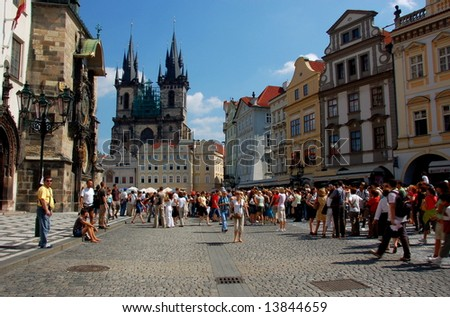 The Old Twon Square, Prague - stock photo