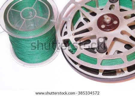 The old USSR reel on white backround