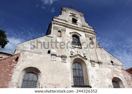 The old Vilnius church  - stock photo