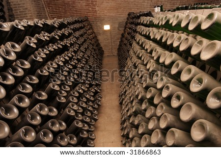 The old wine cellar in Tbilisi, Georgia - stock photo