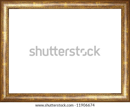 The old wooden frame - stock photo