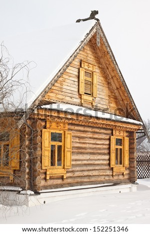 The old wooden house in Russia