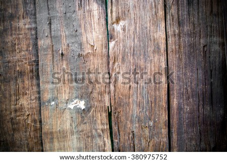The old wooden surface