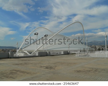 the olympic stadium of athens in Greece