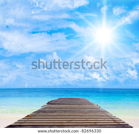 The Only Way Tropical Landscape - stock photo