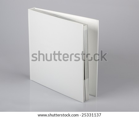 The open book with a pure cover - stock photo