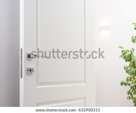 Open white interior doors modern chrome stock photo safe to use open white interior doors modern chrome stock photo safe to use 632900315 shutterstock planetlyrics Image collections