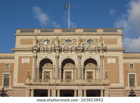 The opera house in Stockholm, Sweden - stock photo