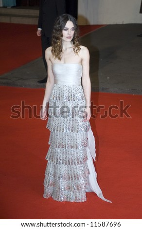 The Orange British Academy Film Awards 2008 held at the Royal Opera House on February 10, 2008 in London, England. Keira Knightley - stock photo