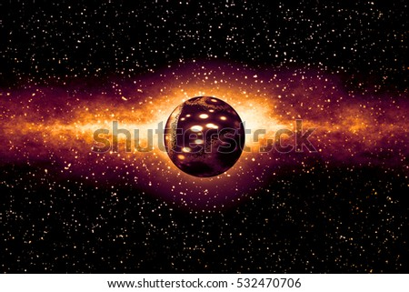 The Origin of the Universe -  Scientific Background with Blank Copy Space for Text or Other Elements - 3D Illustration