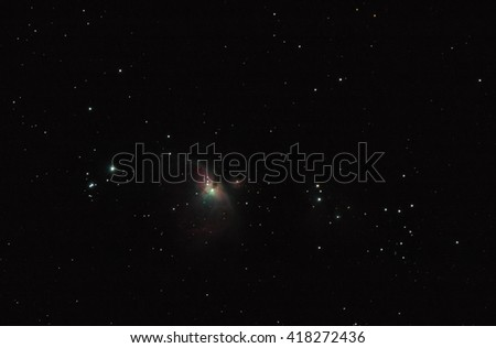 The Orion Nebula - stock photo