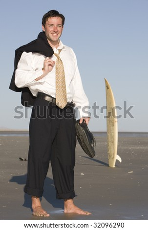 The Other Side of an Executive - stock photo
