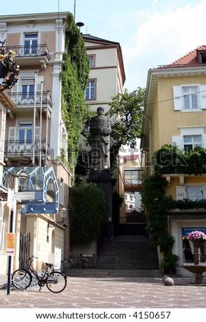 The Otto von Bismarck statue, Baden-Baden cityscape, Germany - stock photo