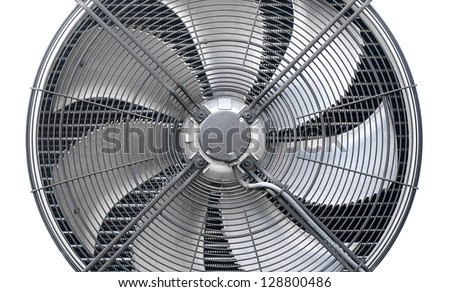 The outdoor unit heat pump, air to air - stock photo