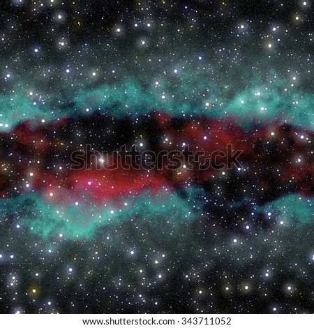 The outer space and milky way galaxy texture background (Tiles seamless, High-resolution 3D CG rendering illustration) - stock photo