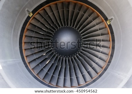 The outer turbine blades of a jet engine