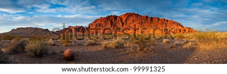 The oxidized rock formations of Valley of Fire State Park, Nevada.