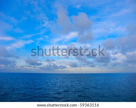 The Pacific Ocean off the coast of Queensland, Australia - stock photo