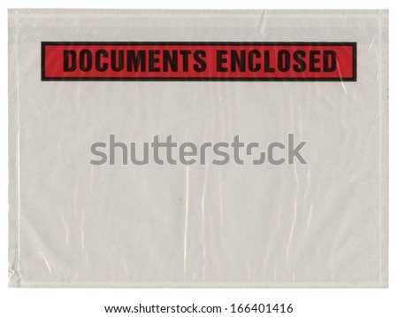 the pack for documents, documents enclosed