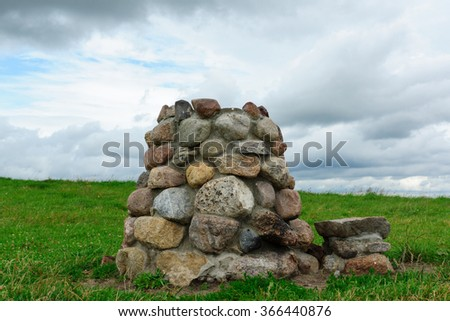 the pagan shrine put from stones at hill top