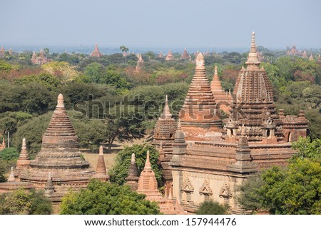 The pagoda in old Bagan , Myanmar
