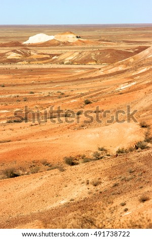 The painted desert, outback South Australia, Australia.